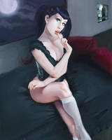 Sexy vampire pin up by discipleneil777