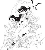 San's Vampirella inked by discipleneil777