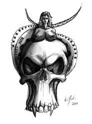 skull tattoo design by discipleneil777
