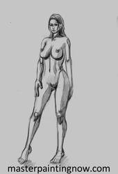 Nude woman sketch by discipleneil777