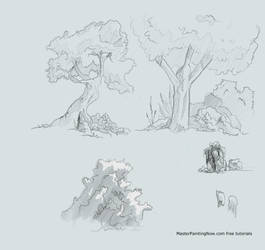 How to draw trees and bushes for comic books by discipleneil777