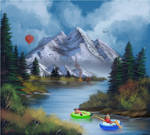 Digital Bob Ross Fun at the lake by discipleneil777