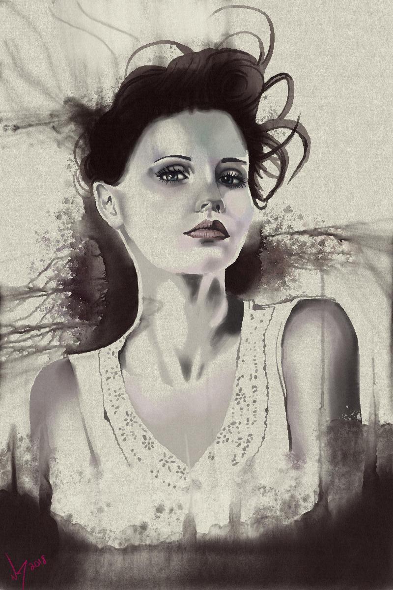 Watercolor Portrait Female Rebelle 3 by discipleneil777