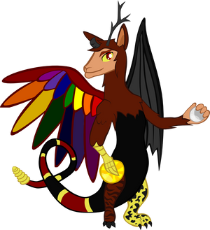 Seven Macaw the Draconequus by Turtlgandalf