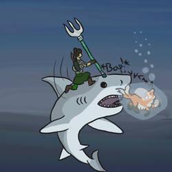 Jumping the (Dire) Shark by Turtlgandalf