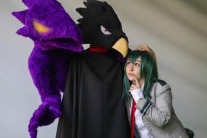 Tokoyami and Froppy cosplay by GeazakiCosplay
