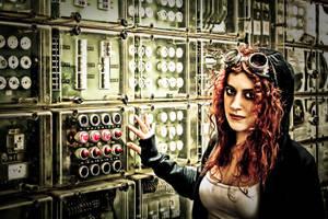Machine Room Girl by kschenk