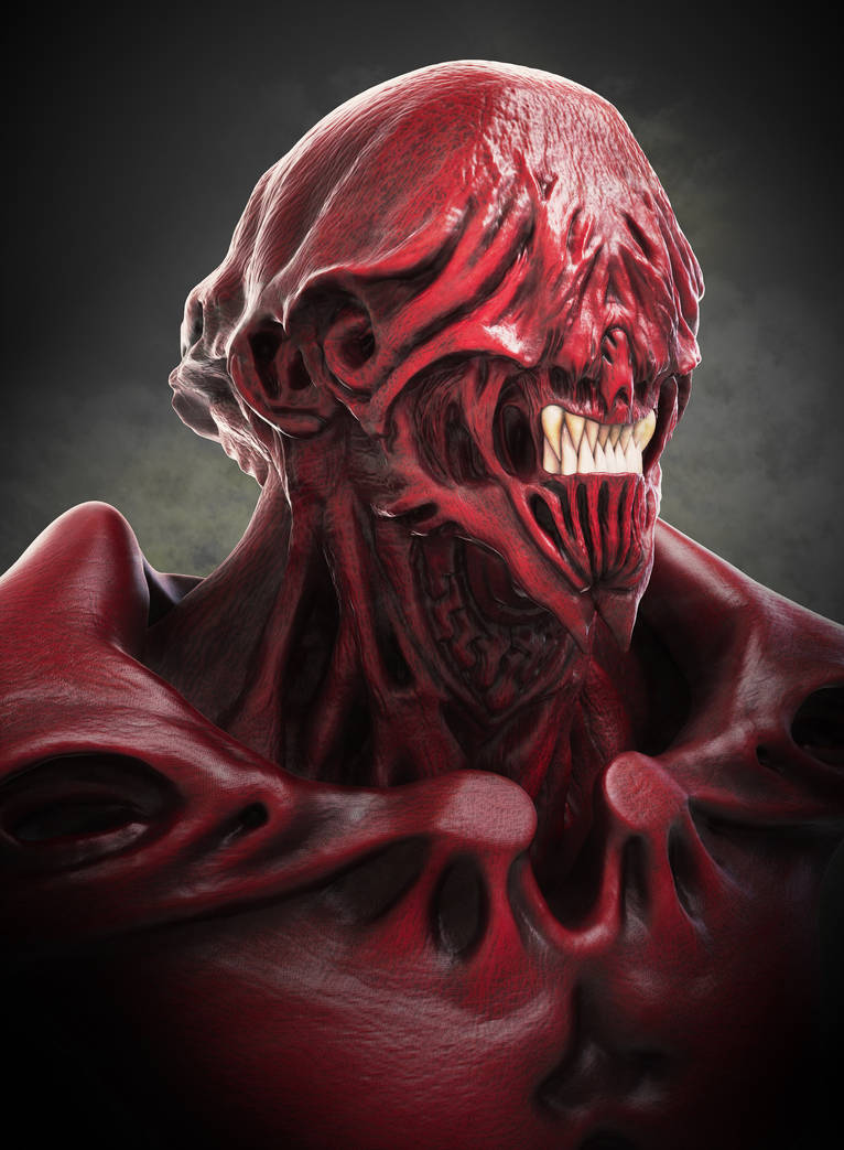 Red Monster by Adam-Baker
