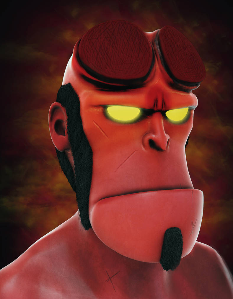 Hellboy by Adam-Baker