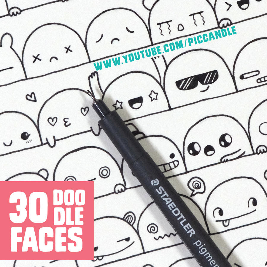 30 Cute Faces / Expressions to Doodle by PicCandle