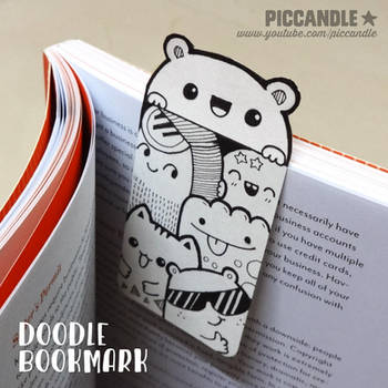 DIY ~ Mini Doodle Bookmark [Video] by PicCandle