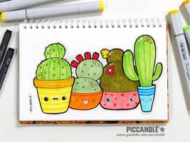 Cactus - A little practice doodle [Video] by PicCandle