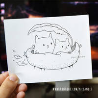 Doodle - Leaf Boat [Inking Video] Mini Monday #2 by PicCandle