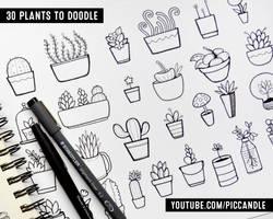 30 Doodle Plants by PicCandle