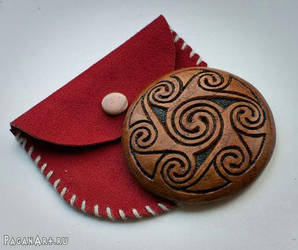 Celtic hand mirror by pagan-art