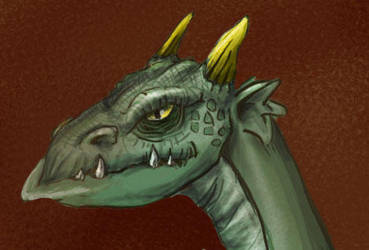 Dragons head by irongollem