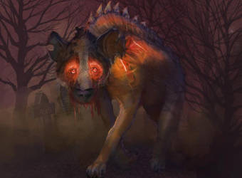 Hellbound Hyena by irongollem