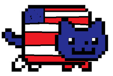 american flag nyun cat by InvaderLindsey