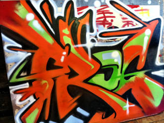 4x6 aerosol on wood by art4oneking