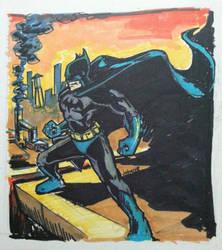 Classic style batman by art4oneking