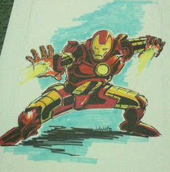 Iron man by art4oneking