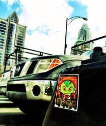 Frog sticker slap by art4oneking