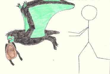 Shinobiraptor damnavarus #buildafakepterosaur by Oaglor