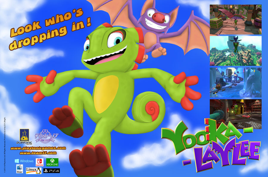 Misc - Yooka-Laylee 90s Style Mag Ad by caat