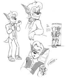 OCX Sketch - Tybalt by caat