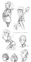 - Various Sketches I - by ayashinta