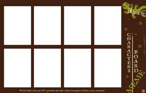 Aya's Character Board MEME by ayashinta