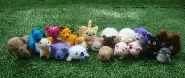 My Felted Army by LittleCraftyFriends