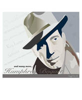 Illustration of Humprey Bogart by mambographic