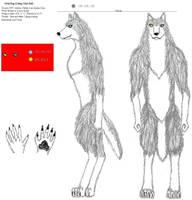 Graydog's ref sheet by JimWolfdog