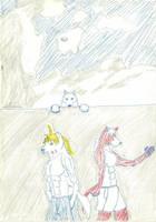 Chi and Aruku and Lei 2 by JimWolfdog