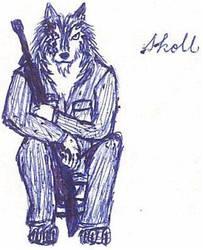 Skoll the Warrior by JimWolfdog