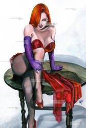 jessica rabbit sitting by aramismarron
