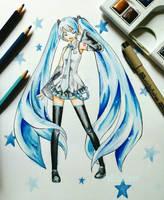 Hatsune Miku by xHibikase