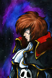 Harlock Saga - Harlock-FB by Guard-of-Minasteris
