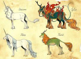 Unicorn and Qilin by Megaloceros-Urhirsch