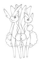 Lopunny male and female by Megaloceros-Urhirsch