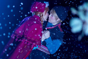 Frozen Anna and Kristoff kiss by KuRumi-FlameSamurai