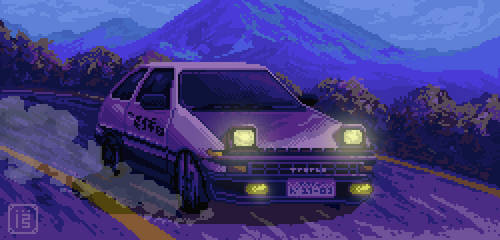 Daybreak's wings [Toyota AE86 Pixel Fanart] by MalthusWolf