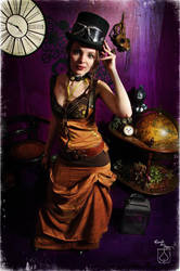 lady of gear steam and co by BlackNorns