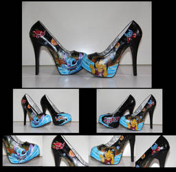 Stitch and lilo galaxie shoes by BlackNorns