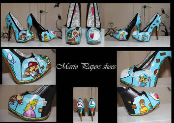 Mario and luigi custom shoes by BlackNorns