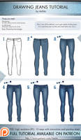 Drawing Jeans Tutorial by itaXita