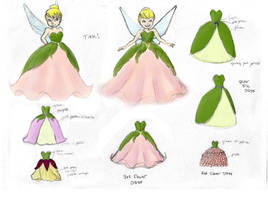Tinkerbell Dress Designs by bluesapphire92
