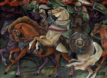 The Ride of Rohirrims by Itchekoa