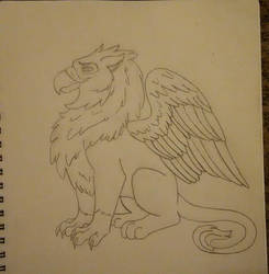 Griffin sketch by mighty-tree-kangaroo